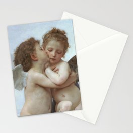 CUPID AND PSYCHE AS CHILDREN - WILLIAM ADOLPHE BOUGUEREAU  Stationery Cards