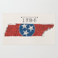 tennessee Area & Throw Rugs featuring Tennessee: 1796 by Chad Madden