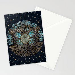 Flower of Life - Tree of life - Butterfly Stationery Cards