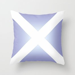 flag of scotland - with color gradient Throw Pillow