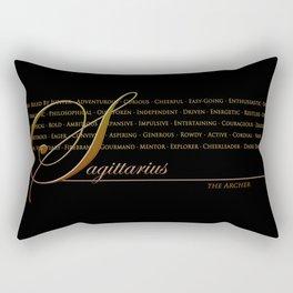 Sign Language for Sagittarius Rectangular Pillow
