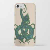 celtic iPhone & iPod Cases featuring Celtic Dragon by Erin Malbuisson-Delaney