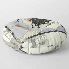 La Boheme Paris Art Deco Floor Pillow