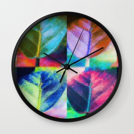 Abstract Leaf Colors Wall Clock
