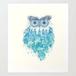 Blue Dream Catcher Art Print