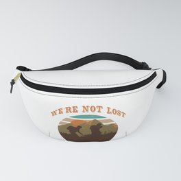 Hiking Fan T-shirt Cool mountaineer outfit  Fanny Pack