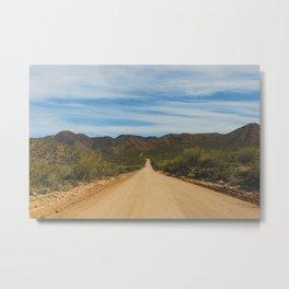 Lonely Road - Apache Trail, Arizona Metal Print