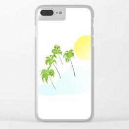 Tropical,summer designs,palmtrees,sun Clear iPhone Case