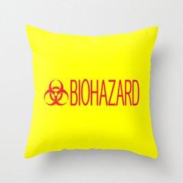 HAZMAT: Biohazard (Red & Yellow) Throw Pillow