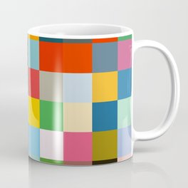 Haumea - Abstract Colorful Pixel Patchwork Art Coffee Mug