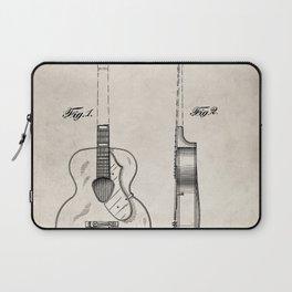 Accoustic Guitar Patent - Classical Guitar Art - Antique Laptop Sleeve