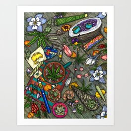 Colorado Coffee Tables Art Print