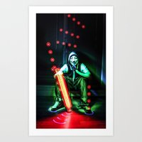 anonymous Art Prints featuring Anonymous by Rewolf