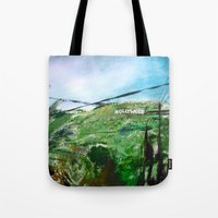 hollywood Tote Bags featuring Hollywood by James Peart
