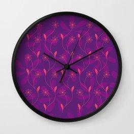 Flowerline – violet Wall Clock