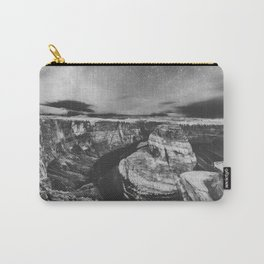 Southwest Starry Night Black and White Carry-All Pouch