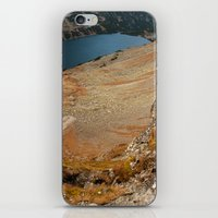 hiking iPhone & iPod Skins featuring Mountain hiking by Mariana's ART