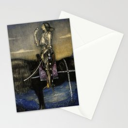 """""""A Knight Rode Up""""Watercolor by John Bauer Stationery Cards"""