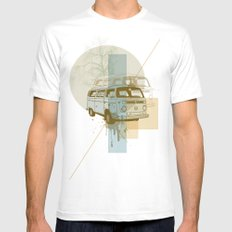 Camioneta White MEDIUM Mens Fitted Tee