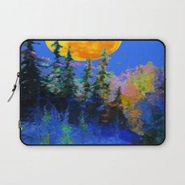 FULL MOON OVER BLUE MOUNTAIN FOREST DESIGN Laptop Sleeve