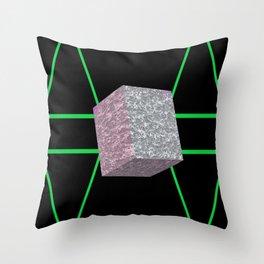 Concrete Cuboid Throw Pillow