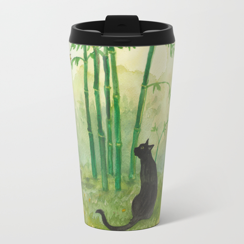 Black Cat In The Bamboo Travel Cup TRM953269