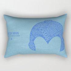 Mega Man Typography Rectangular Pillow