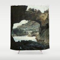 rocks Shower Curtains featuring Rocks by Evan Krushelnycky