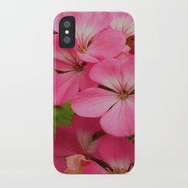 Pink Geranuims iPhone Case