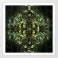 green pattern Art Prints featuring Green pattern by Armine Nersisian