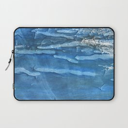 Blue abstract watercolor Laptop Sleeve
