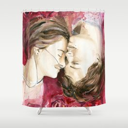 "Augustus Waters & Hazel Grace ""The Fault in Our Stars""  Shower Curtain"
