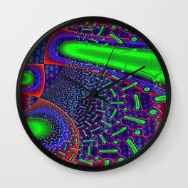 Disco Tech Psychedelic Wall Clock