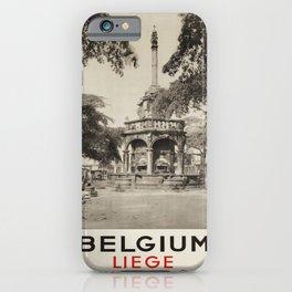 retro Belgium Liege poster iPhone Case