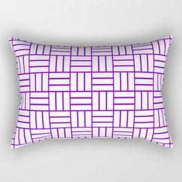 Basketweave (Violet & White Pattern) Rectangular Pillow