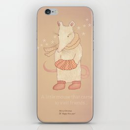 Christmas creatures- The Little Mouse iPhone Skin