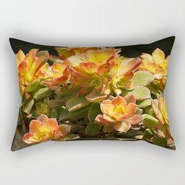 Sunshine-Kissed Succulents Rectangular Pillow