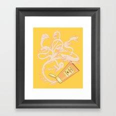 Hydrating lotion Framed Art Print