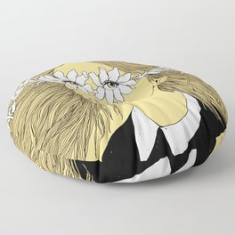 Flowers in My Eyes (Life in a Glimpse) Floor Pillow