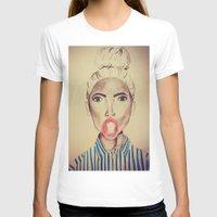 bubblegum T-shirts featuring Bubblegum by Charlotte Chisnall
