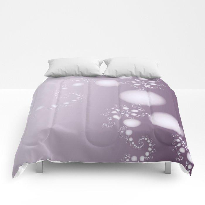 Fractal Pearls in Lavender Comforters
