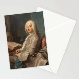 Louis Duval de l'Epinoy, marquis de Saint-Vrain by Maurice Quentin de La Tour Stationery Cards