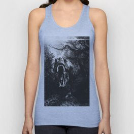 Black and white Jurassic period Unisex Tank Top