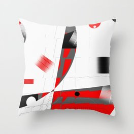 black and white meets red Version 15 Throw Pillow