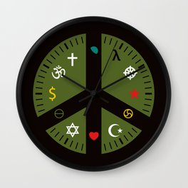 It's time for peace now. Thom Van Dyke, 2014. [Part of AUTHOMART] Wall Clock