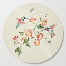 hummingbirds & morning glories Cutting Board