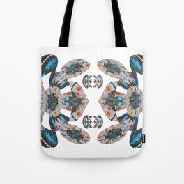 Pacific Northwest Coat Native Inspired Sacred Geometric Frog Print Tote Bag