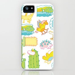 Unicorn Pattern iPhone Case