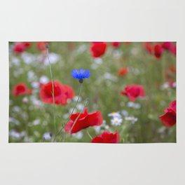 Spring Meadow Poppy Flowers full Bloom Rug