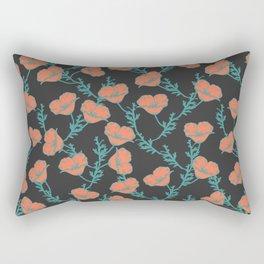 Cali Poppies Rectangular Pillow